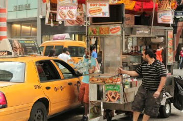 Taxi Cab vs Food Cart - NYC
