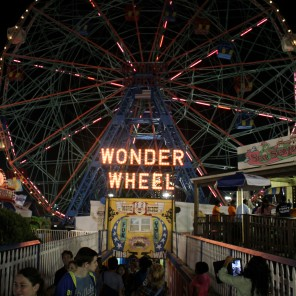 ConeyIsland.Pier.WonderWheel.Night