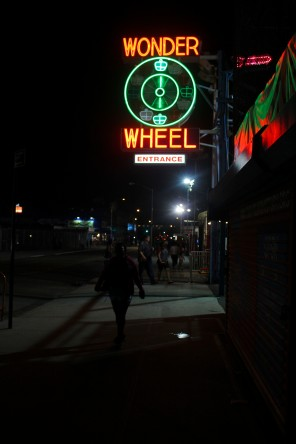 ConeyIsland.Pier.WonderWheelSign.Night