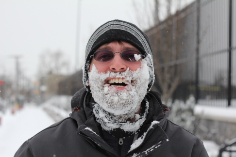 This is one of my roommates, Jonathan. He's from LA and this was his first time experiencing snow.