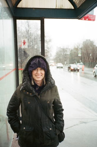 Abigail Bus Stop Montreal CA 35mm