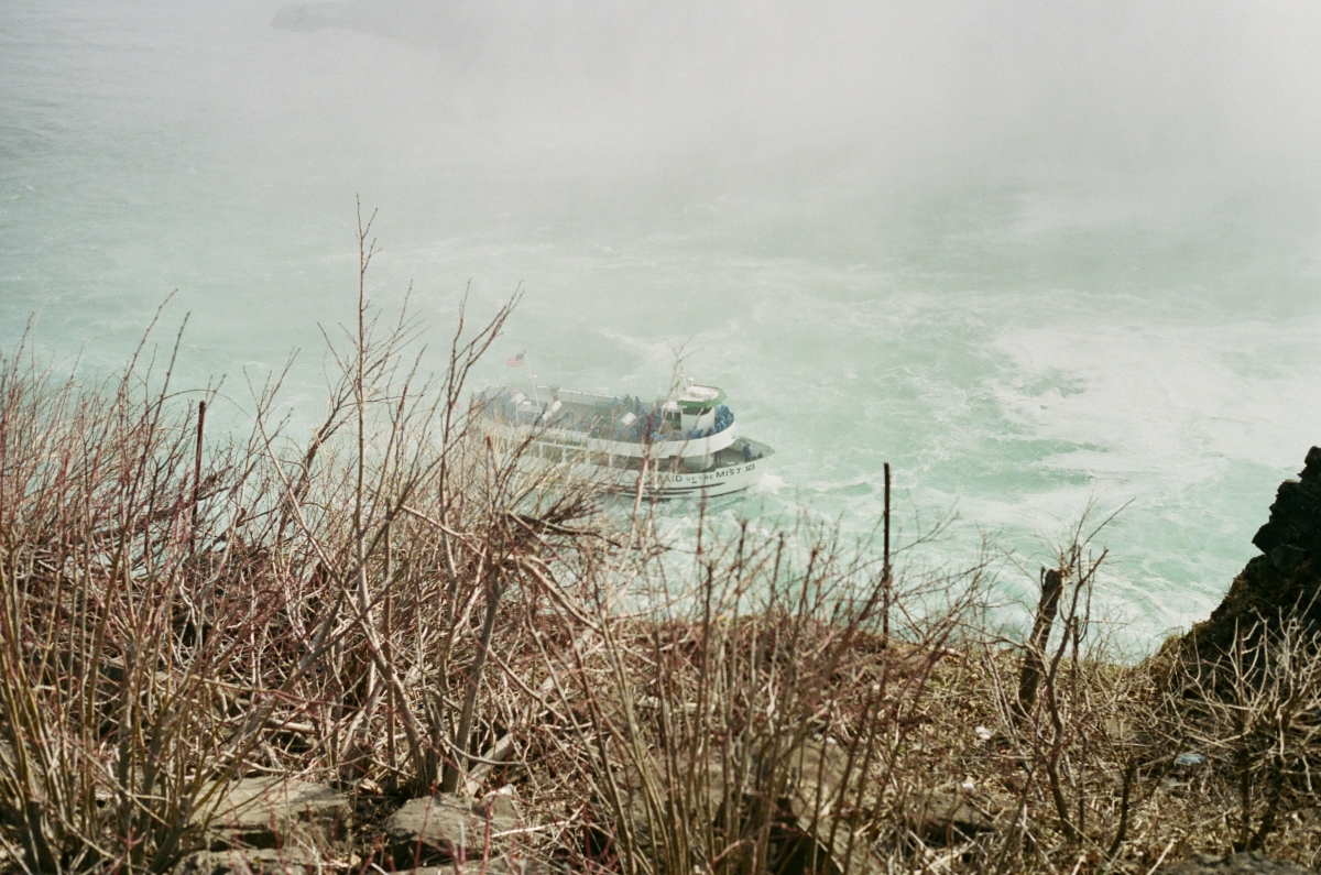 Boat Close Niagara Falls