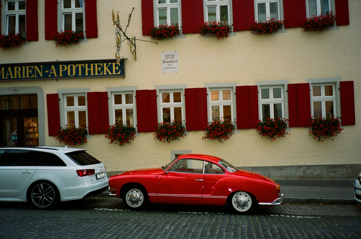Red Car - Rothenburg ob der Tauber, Germany