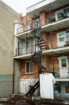 Stairwell Montreal 35mm